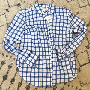 J. Crew Gingham Classic Button-Down Shirt